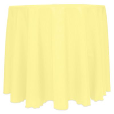 Majestic Satin Finished 90 Inch Round Tablecloth In Yellow