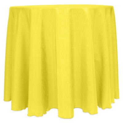 Majestic Satin Finished 90 Inch Round Tablecloth In Lemon