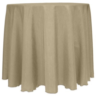 Captivating Majestic Satin Finished 90 Inch Round Tablecloth In Brown
