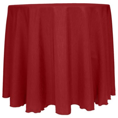 Majestic Satin Finished 90 Inch Round Tablecloth In Cherry Red