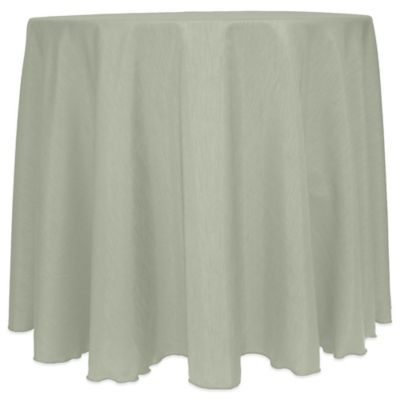 MajesticSatin Finished 90 Inch Round Tablecloth In Sage