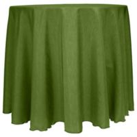 Majestic Satin Finished 90-Inch Round Tablecloth in Moss