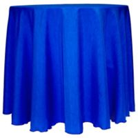 Majestic Satin Finished 90-Inch Round Tablecloth in Royal
