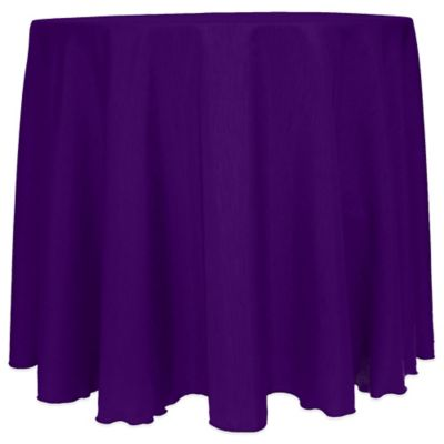 Captivating Majestic Satin Finished 90 Inch Round Tablecloth In Purple
