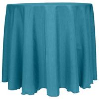 Majestic Satin Finished 90-Inch Round Tablecloth in Turquoise