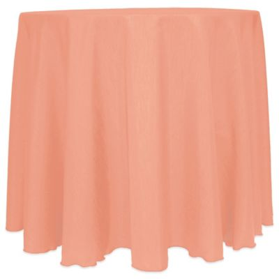 Attractive Majestic Satin Finished 90 Inch Round Tablecloth In Coral