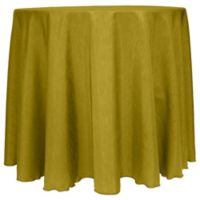 Majestic Satin Finished 90-Inch Round Tablecloth in Acid Green