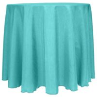 Majestic Satin Finished 90-Inch Round Tablecloth in Caribbean Blue