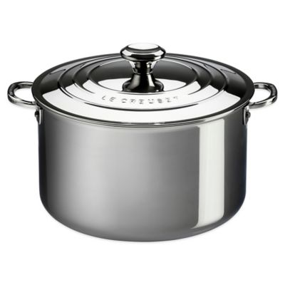 le creuset 4 qt triply stainless steel covered casserole