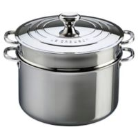 Le Creuset® 9-Quart Tri-Ply Stainless Steel Covered Stock Pot with Deep Colander Insert