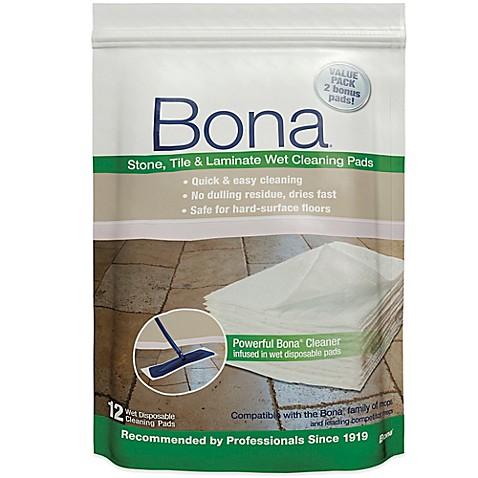 Bona 174 12 Pack Stone Tile Amp Laminate Wet Cleaning Pads