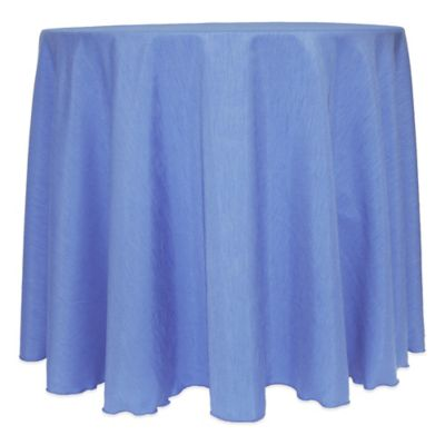 majestic satin finished 120inch round tablecloth in periwinkle