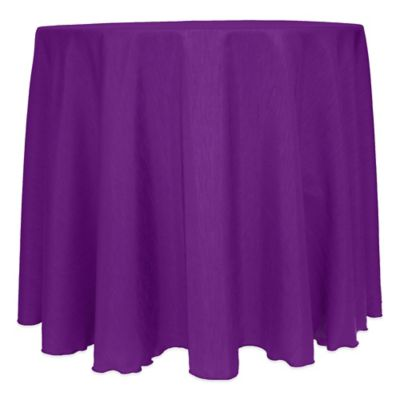 Majestic Satin Finished 120 Inch Round Tablecloth In Plum