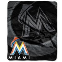 MLB Miami Marlins Vintage Raschel Throw Blanket