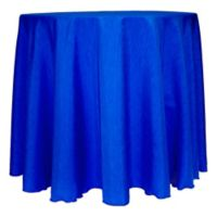 Majestic Satin Finished 132-Inch Round Tablecloth in Royal