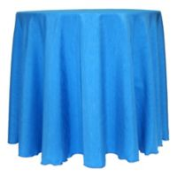 Majestic Satin Finished 132-Inch Round Tablecloth in Cobalt