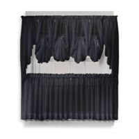 Emelia 38-Inch Window Curtain Swag Pair in Black