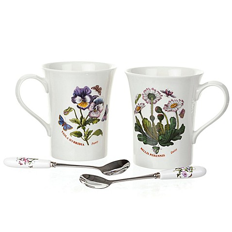 Buy Portmeirion Botanic Garden Set Of 2 Mugs And 2 Spoons From Bed Bath Beyond