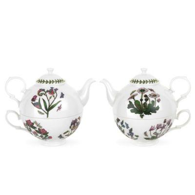 portmeirion botanic garden tea for one set