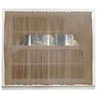 Emelia 14-Inch Sheer Window Valance in Taupe