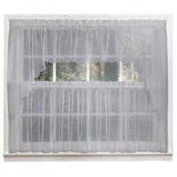 Emelia 14-Inch Sheer Window Valance in Grey