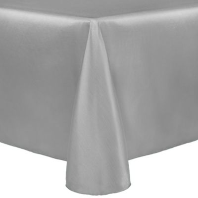 Majestic 90 Inch X 132 Inch Tablecloth In Silver