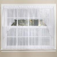 Emelia 14-Inch Sheer Window Valance in White