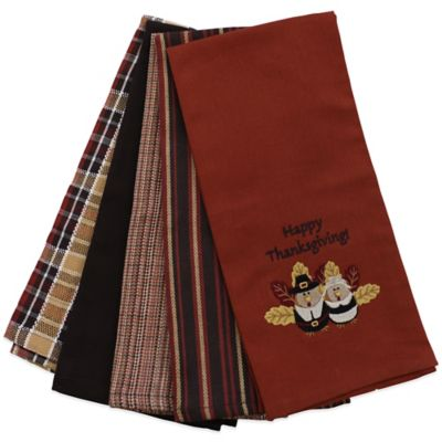 Happy Thanksgiving Kitchen Towels (Set Of 5)