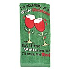White Christmas Fiber Reactive Kitchen Towel