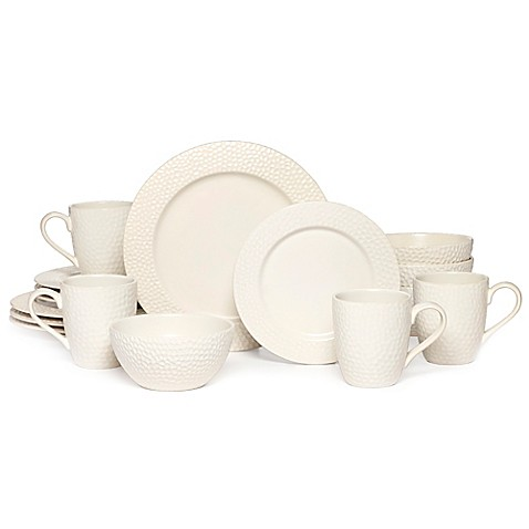 Gourmet Basics by Mikasa® Hayes 16-Piece Dinnerware Set in White - Bed Bath u0026 Beyond  sc 1 st  Bed Bath u0026 Beyond & Gourmet Basics by Mikasa® Hayes 16-Piece Dinnerware Set in White ...