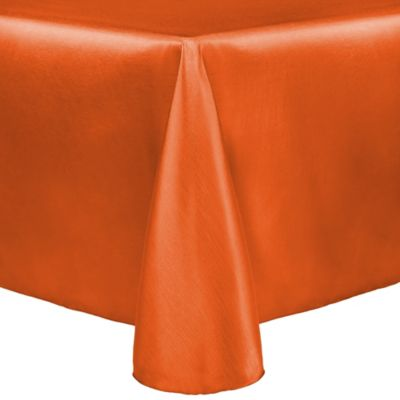 Captivating Majestic 90 Inch X 132 Inch Tablecloth In Orange