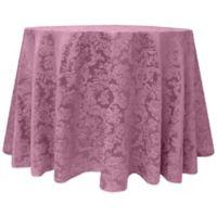 Miranda Damask 108-Inch Round Tablecloth in English Rose