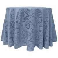Miranda Damask 120-Inch Round Tablecloth in Slate Blue
