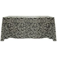 Miranda Damask 90-Inch x 156-Inch Oblong Tablecloth in Black