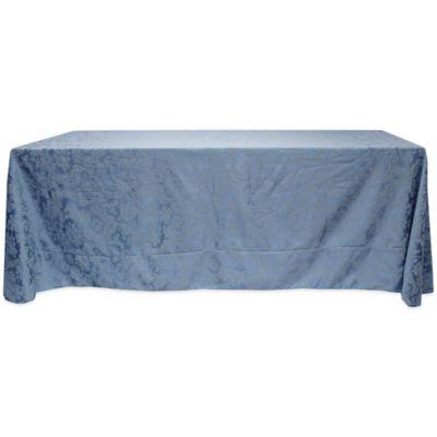 Miranda Damask 90 Inch X 132 Inch Tablecloth In Slate Blue