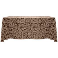 Miranda Damask 90-Inch x 156-Inch Oblong Tablecloth in Chocolate