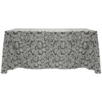 Miranda Damask 60-Inch x 90-Inch Oblong Tablecloth in Pewter