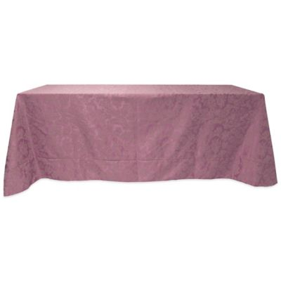 Exceptional Miranda Damask 60 Inch X 90 Inch Oblong Tablecloth In English Rose