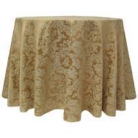 Miranda Damask 132-Inch Round Tablecloth in Dijon