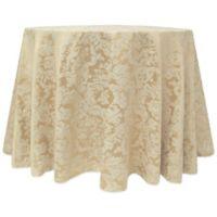 Miranda Damask 132-Inch Round Tablecloth in Champagne