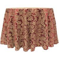 Miranda Damask 132-Inch Round Tablecloth in Purple