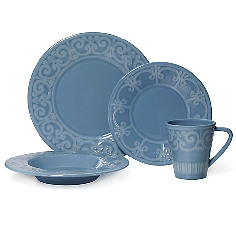 image of Mikasa® Sutton 4-Piece Place Setting in Teal