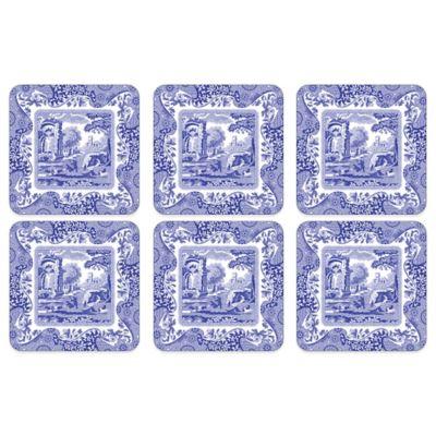 Spode® Blue Italian Coasters (Set of 6)  sc 1 st  Bed Bath u0026 Beyond & Buy Italian Dinnerware Sets from Bed Bath u0026 Beyond