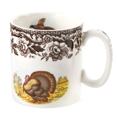 spode woodland turkey mug