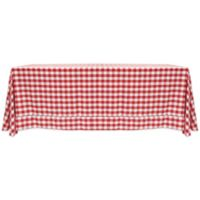 Gingham Poly Check 90-Inch x 132-Inch Tablecloth in Red/White