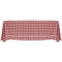 Gingham Poly Check 72-Inch x 108-Inch Tablecloth in Burgundy/White