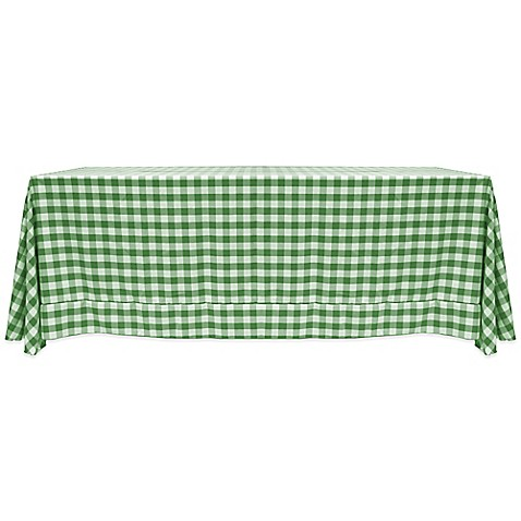 Buy Gingham Poly Check 60 Inch X 90 Inch Tablecloth In