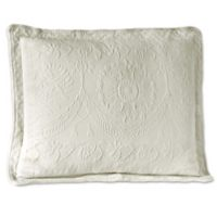 King Charles Matelasse Pillow Sham in White