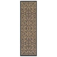 Couristan® Veranda 2-Foot 3-Inch x 7-Foot 10-Inch Indoor/Outdoor Rug in Cocoa/Black