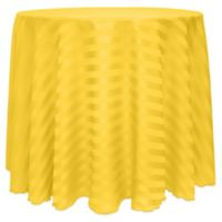 Poly-Stripe 90-Inch Round Tablecloth in Goldenrod